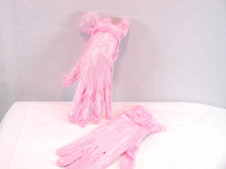 Red Hat Ladies Pink Lace Gloves