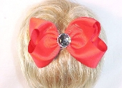 Red Hair Bow With Flower. My Red Hat Store Exclusive