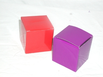 Red - Purple Favor boxes - Red Hat Society Ladies