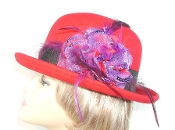 Red Hat Society Ladies Bold Bowler Hat