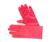 Red Hat Ladies Red Stretch Satin Gloves