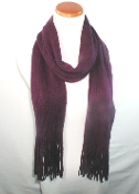 Purple Knit Scarf - Shawl - Red Hat Lady Accessory