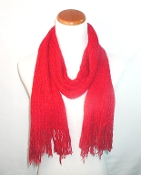 Soft Red Knit Scarf - Red Hat Ladies