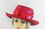 Gallant Red Gambler Straw Hat - Red Hat Society Ladies