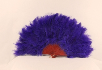 Red Hat Ladies Purple Feather Fan