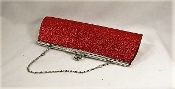 Red Glitter Evening Clutch Bag - Red Hat Fashion Accessory
