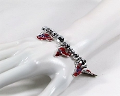 Red Hat Multi - Charm Bracelet - Red Hat Society Ladies