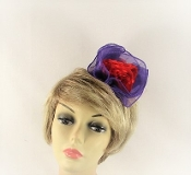 Red Flower Jaw Clip-Official Colors Red Hat Society