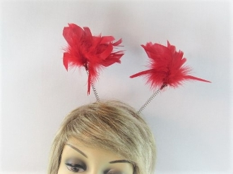 Red Feather Bopper Headband - Red Hatters Accessory
