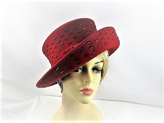 Red Wool Scala Collection Hat - Red Hat Society Lady