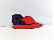 Red Hat - Feather Magnet - Red Hat Society Ladies