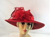Large Brim Red Felt Hat - Red Hat Society Lady