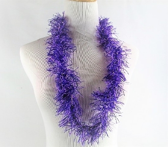 6 Purple Thread Leis - Red Hat Society Ladies Party Favor