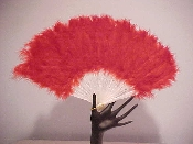 Red Hat Ladies Feather Fan