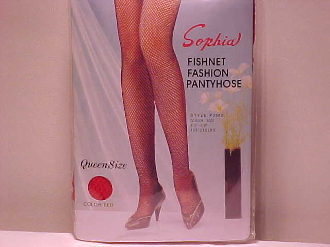 Red Hat Society Ladies Red Queen Size Fishnet Panty Hose