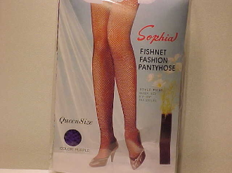 Purple Queen Size Fishnet Panty Hose - Red Hatters Hosiery