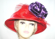 Satin Sensation Red Felt Hat - Red Hat Society Colors
