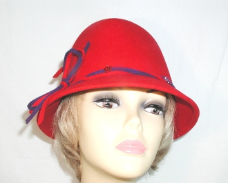 Festive Felt Red Fedora - Christy Creations®