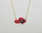 Red Hat Charm Necklace - Red Hatters Accessory