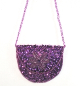 Purple Sequin Purse - Red Hat Lady Accessory