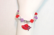 Red Hat Single Charm Bracelet - Red Hatter Accessory