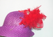 Red Hat Society Ladies feather hat pin
