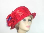 Subtle Satin Red Hat - Red Hat Lady Colors