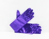 Purple Satin Stretch Gloves - Red Hat Society Ladies Gloves