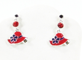 Red Hat Dangle Earrings