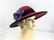 Scala Red Wool Velvet Hat - Original Red Hat Society Colors