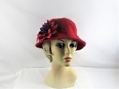 Carefree Cloche Red Hat - Red Hat Society Ladies