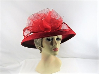 Simply Scarlet Wool Red Hat - Red Hat Society Lady