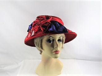Resplendent Red Wool Red Hat Society Hat