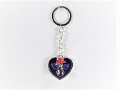 Red Hat Angel Charm - Purple Heart Key Ring - Red Hatters