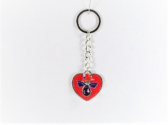 Red Hat Angel Charm - Red Heart Key Ring - Red Hatters