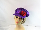 Nostalgic Newsboy Purple Cap - Red Hat Society Ladies Cap