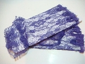 Purple Lace Ruffled Fingerless Gloves - Red Hat Lady