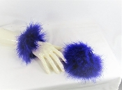 Fluffy Purple Marabou Elastic Cuffs - Red Hat Society Ladies