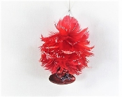 Red Hat Angel Purple Feather Christmas Ornament