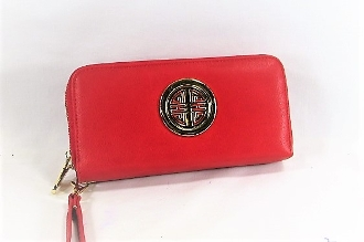 Red Leather Wrist Wallet - Red Hatters