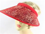Beautiful Red Hat Society Ladies Red Sequin Hat - Shop Now!