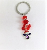 Red Hat Angel Charm - Key Ring - Red Hatters
