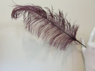 Whispy Purple Ostrich Feather Stem -Red Hat Society Ladies Decor