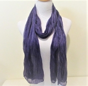 Purple Crinkle Scarf - Red Hat Lady Accessory