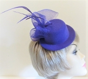 Purple Mini Hat Fascinator - Red Hat Society Ladies