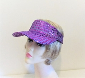 Purple Sparkle Visor - Red Hat Ladies Visor