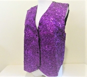 Purple Sequin Vest - Glitz Red Hatter Accessory