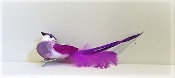 Purple - White Bird Hat- Hair Decor Clip - Red Hat Ladies