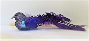Purple Glitter Bird - Hat- Hair Decor Clip - Red Hat Ladies