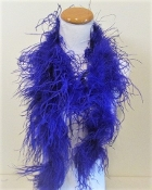 Purple 72 Inch Ostrich Feather Boa - Red Hat Society Ladies